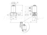 Schematische tekening ventiel 24V