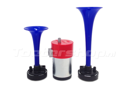 Double air horn kit blue
